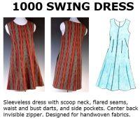 1000 Swing Dress Downloadable Pattern