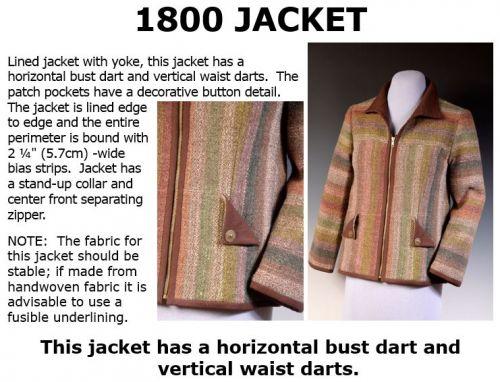 1800 Zippered Jacket Downloadable Pattern