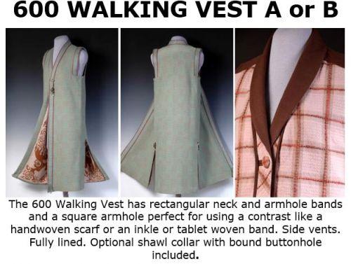 600 Walking Vest Downloadable Pattern