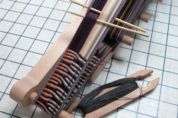 Runic inkle weaving.  ©http://weaversew.com/